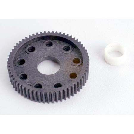 Traxxas Differential gear (60-tooth)/PTFE-coated differential bushing