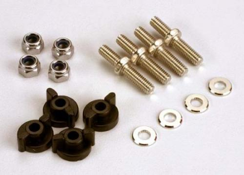 Traxxas Anchoring pins with locknuts (4)/ plastic thumbscrews for upper deck (4) ** CLEARANCE **