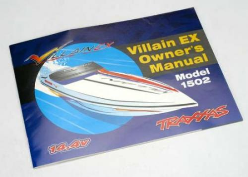 Traxxas Full color Villain EX operating instructions ** CLEARANCE **