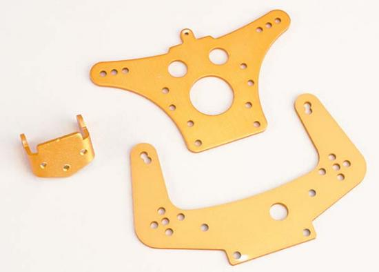 Traxxas Shock towers aluminum (F R) radio tray bracket (rear)