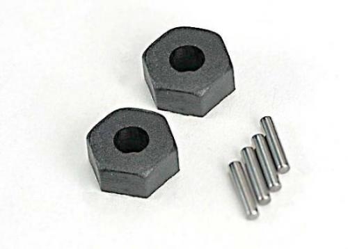 Traxxas 12mm Hex Wheel Hubs (2)/ stub axle pins (2)