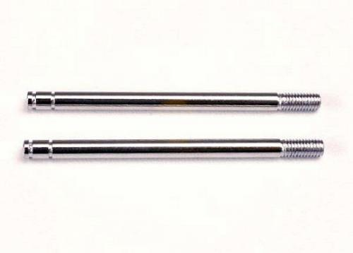 Traxxas Shock shafts steel chrome finish (long) (2)