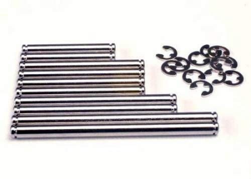 Traxxas Suspension pin set hard chrome (w/ E-clips)
