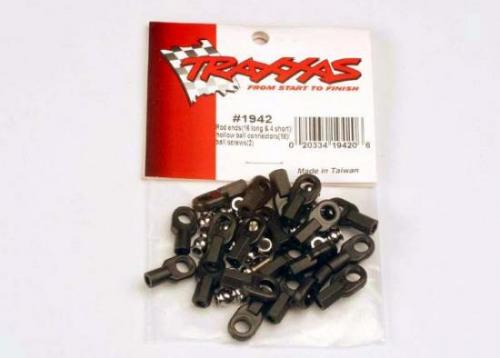 Traxxas Rod ends (16 long 4 short)/ hollow ball connectors (18)/ ball screws (2)