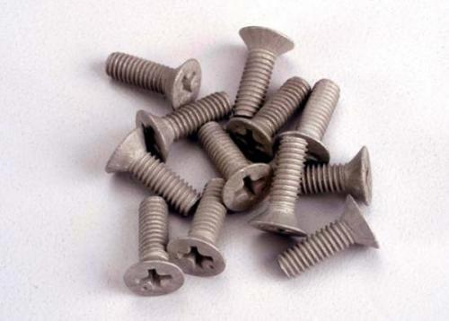 Traxxas Screws 4x12mm countersunk machine (Aluminum) (12)
