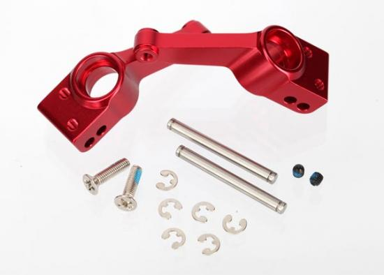 Traxxas 6061-T6 Aluminum Stub Axle Carriers (red-anodized)