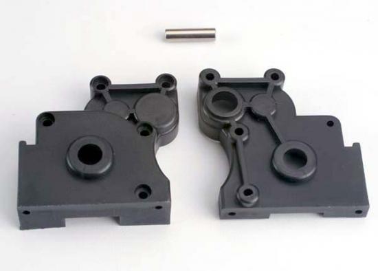 Traxxas Gearbox halves (L R) w/ idler gear shaft