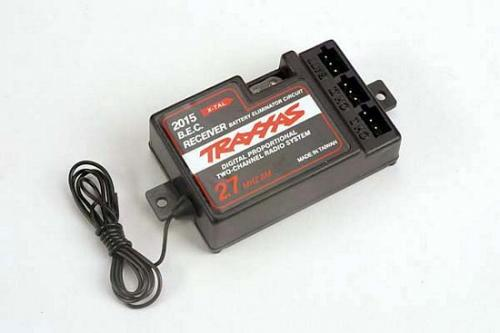 Traxxas Receiver 2-channel 27MHz with BEC (for use with mechanical speed control)