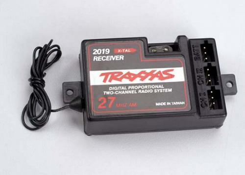 Traxxas Receiver 2-channel 27MHz without BEC (for use with electronic speed control)