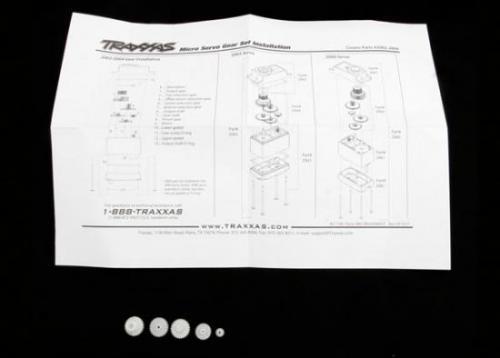 Traxxas Gear set (for 2065 waterproof sub-micro servo)