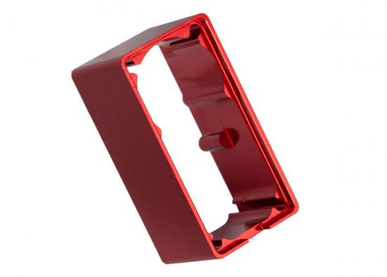 Traxxas Servo case aluminum (red-anodized) (middle) (for 2255 servo) ** CLEARANCE **
