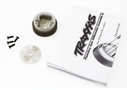 Traxxas Main diff with steel ring gear/ side cover plate/ screws (Bandit Stampede Rustler)