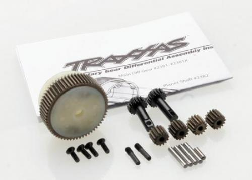 Traxxas Planetary gear differential with steel ring gear (complete) (fits Bandit Stampede Rustler)