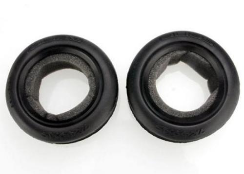 Traxxas Tires Alias ribbed 2.2 (wide front) (2)/ foam inserts (Bandit) (soft compound)