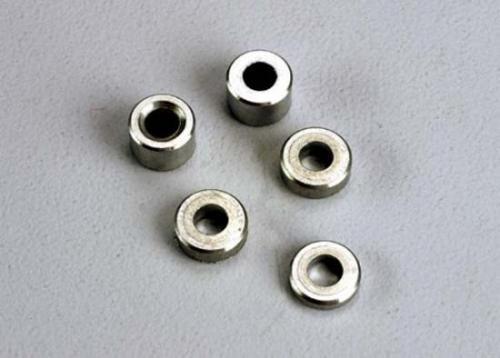 Traxxas Aluminum spacers: 3x6x1.5mm (2)/ 3x6x2.5mm (1)/ 3x6x3.8mm (2)