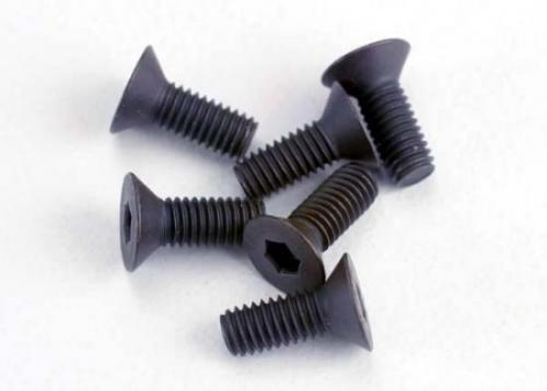 Screws - 3x8mm countersunk machine (6) (hex drive)