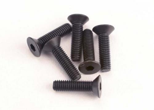 Screws - 3x12mm countersunk machine (6) (hex drive)