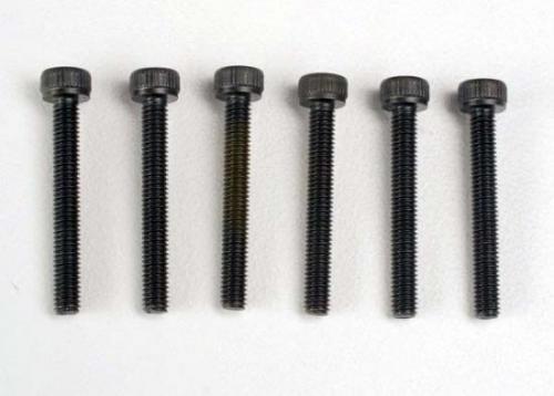 Traxxas Header screws 3x23mm cap hex screws (6)