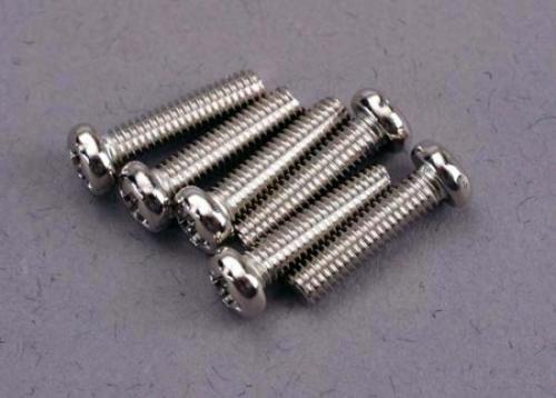 Traxxas Screws 3x12mm roundhead machine (6)