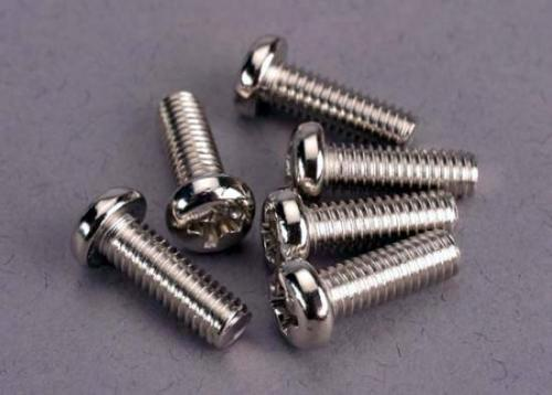 Traxxas Screws 4x12mm roundhead machine (6)