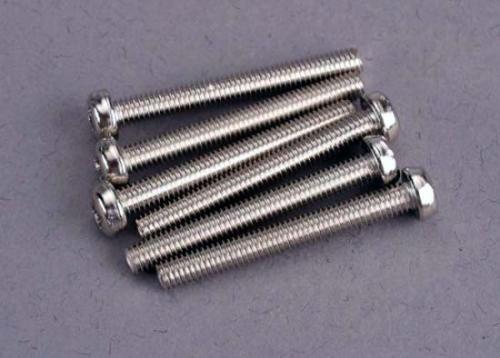 Traxxas Screws 3x25mm roundhead machine (6) ** CLEARANCE **