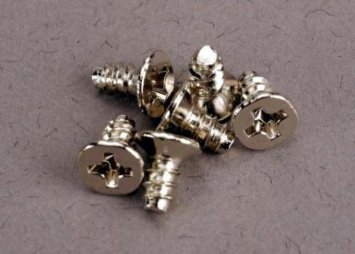 Traxxas Screws 3x6mm countersunk self-tapping (6) ** CLEARANCE **