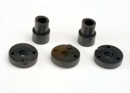 Traxxas Piston head set (2-hole (2)/ 3-hole (2))/ shock mounting bushings washers (2) (Big Bore Shocks)
