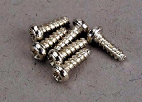 Traxxas Screws 2x6mm roundhead self-tapping (6)