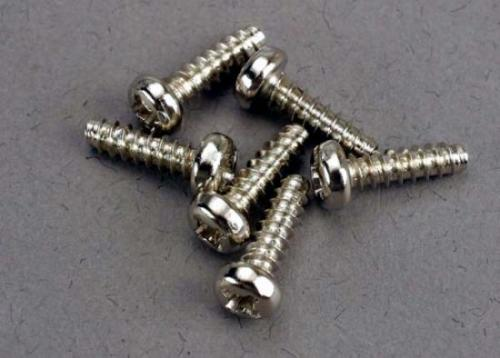 Traxxas Screws 3x10mm roundhead self-tapping (6)