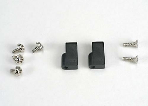 Traxxas Servo mounts (2)/ screws (6)
