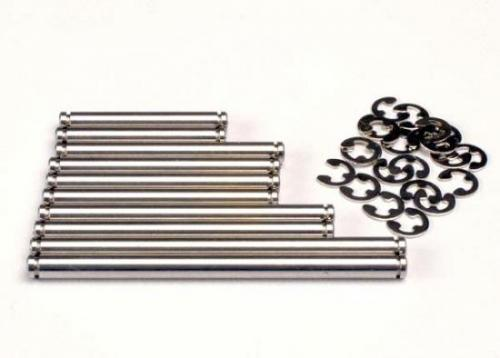 Traxxas Suspension pin set stainless steel (w/ E-clips)