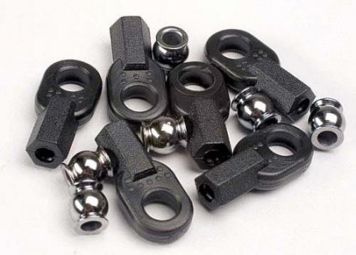 Traxxas Rod ends (long) (6)/ hollow ball connectors (6)