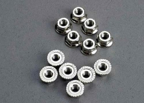 Traxxas Nuts 3mm flanged (12)