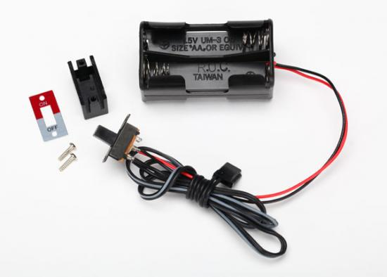 Traxxas Battery holder 4-cell/ on-off switch