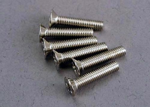 Traxxas Screws 3x15mm countersunk machine (6)
