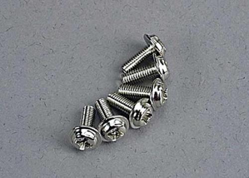 Traxxas Motor screws (3x8mm washerhead machine) (6)