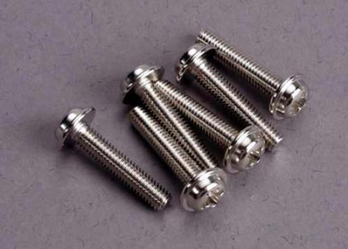Traxxas Screws 3x15mm washerhead machine (6)