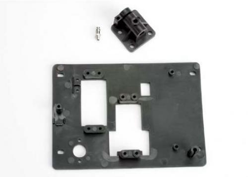 Traxxas Tray radio/ drive shaft mount w/ pressure fitting