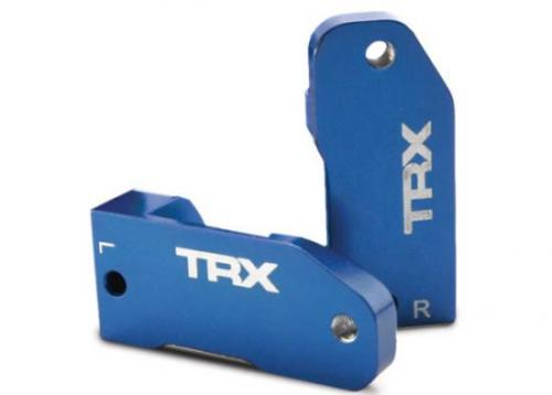 Traxxas Caster blocks 30-degree blue-anodized 6061-T6 aluminum (left right)