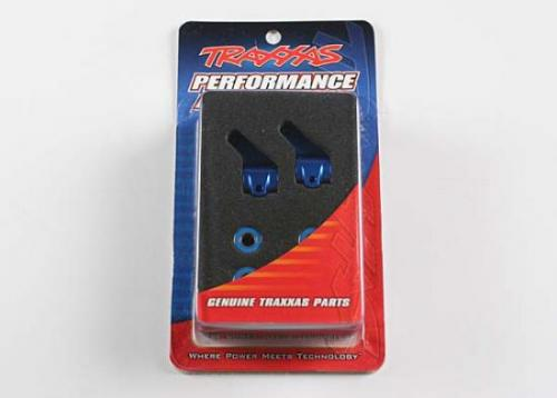 Traxxas Blue-anodized Aluminum Steering Blocks