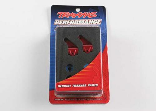 Traxxas Red-anodized Aluminum Steering Blocks