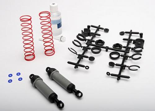 Traxxas Ultra Shocks (grey) (xx-long) (complete w/ spring pre-load spacers springs) (rear) (2)
