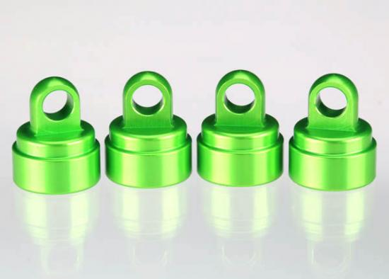 Traxxas Green-anodized aluminum shock caps (4) (fits all Ultra Shocks)