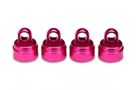 Traxxas Pink-anodized aluminum shock caps aluminum (4) (fits all Ultra Shocks)
