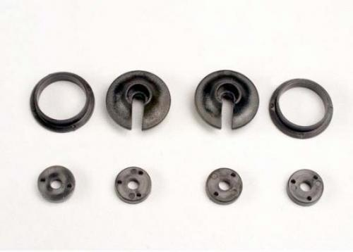 Traxxas Spring retainers upper lower (2)/ piston head set (2-hole (2)/ 3-hole (2))