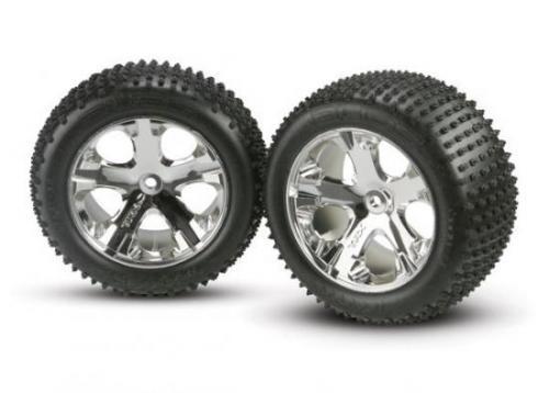Traxxas Alias Tyres Pre Glued On All Star Chrome Wheels - 12mm Hex Fit
