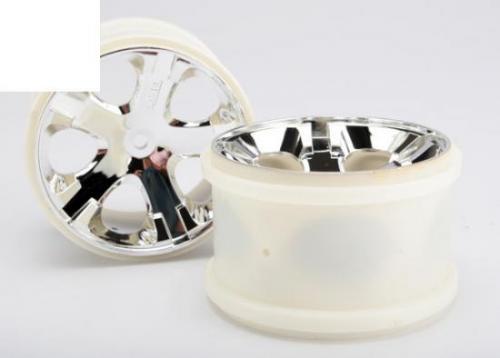 Traxxas All-Star 2.8 Wheels (chrome) (electric rear)