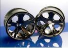 Traxxas All-Star 2.8 Wheels (black chrome) (electric rear)
