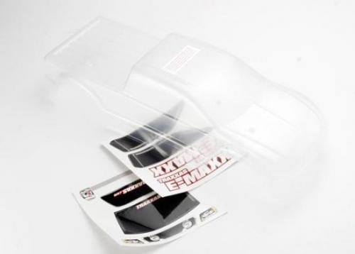 Traxxas Body E-Maxx (long wheelbase) (clear requires painting)/ window lights decal sheet