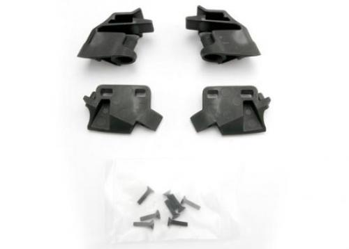 Traxxas Retainer battery hold-down front (2)/ rear (2)/ CCS 3x12 (4)